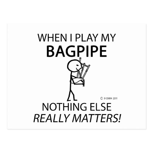 Bagpipe Nothing Else Matters Post Cards