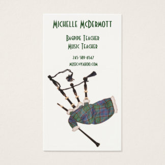Bagpipe Teacher Business Card