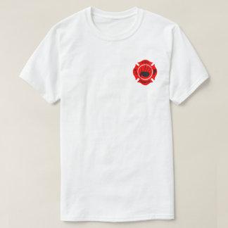 Bagpiper Fireman Design T-Shirt