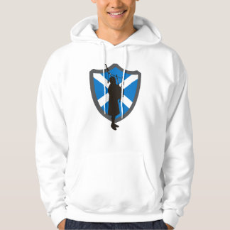 Bagpiper Sweatshirt with Scottish Shield