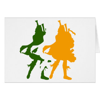 Bagpipers Of Ireland Note Card