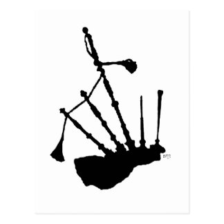 Bagpipes Silhouette Postcard