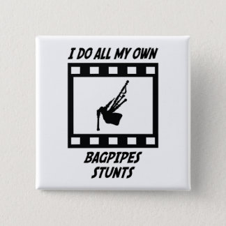 Bagpipes Stunts 2 Inch Square Button