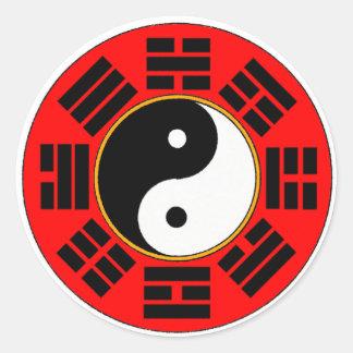 Bagua trigram classic round sticker