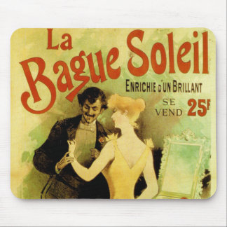 Bague Soleil Vintage French jewelry advertisement Mouse Pad
