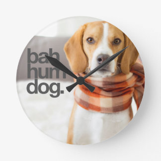 """Bah Hum Dog"" Beagle Wallclocks"