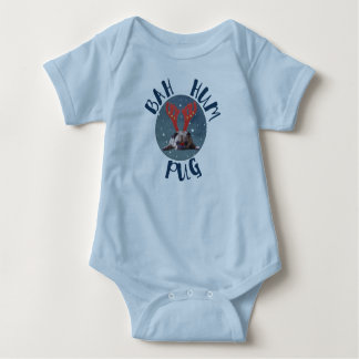 Bah Hum Pug Christmas Collection Baby Bodysuit
