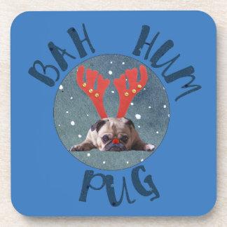 Bah Hum Pug Christmas Collection Coaster