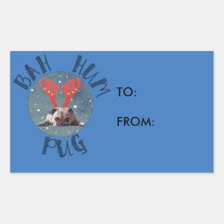 Bah Hum Pug Christmas Collection Sticker