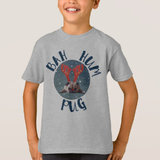 Bah Hum Pug Christmas Collection T-Shirt