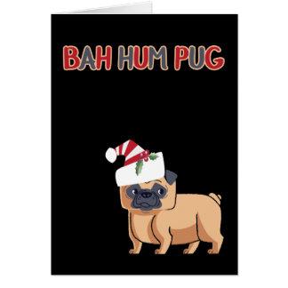 Bah Hum Pug Christmas Dog Card