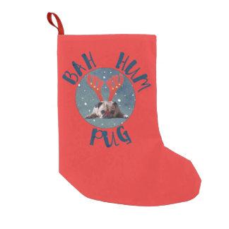 Bah Hum Pug! Pug Lovers Christmas Stocking