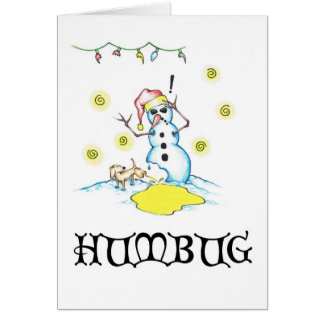 "Bah Humbug ""A Snowman's Worst Friend"" Series # 1 Card"