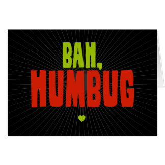 Bah Humbug Stationery Note Card