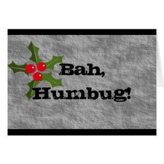 Bah, Humbug! Card
