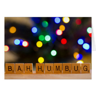 Bah Humbug Christmas Greeting Card