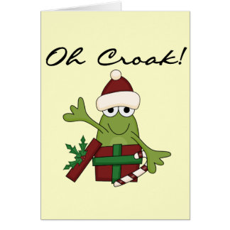 Bah Humbug Frog Christmas Tshirts and Gifts Card