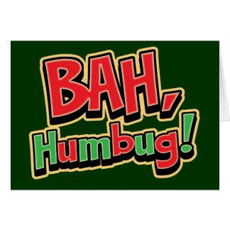 Bah Humbug Greeting Cards - Dark Background