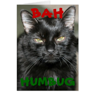 Bah Humbug Grumpy Cat Holiday Greeting Card
