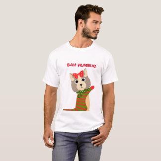 BAH HUMBUG Men's Christmas Cat T-Shirt