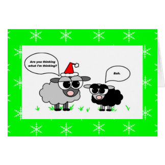 Bah Humbug / Merry Christmas Sheep Holiday Card