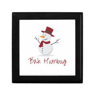 Bah Humbug -  Mischievous Snowman  - Christmas Gift Box