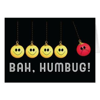 Bah Humbug Newton's Cradle Card