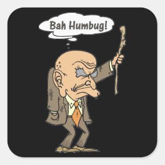 Bah Humbug Old Man Square Sticker