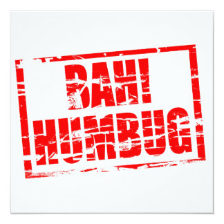 Bah! Humbug red rubber stamp effect Card