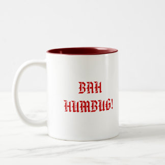 BAH HUMBUG! Two-Tone COFFEE MUG