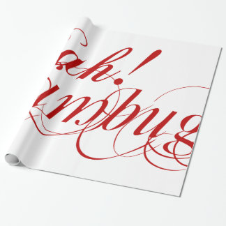 Bah! Humbug! typography wrapping paper