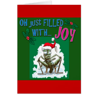 Bah Humbug with miserable grasshopper Card