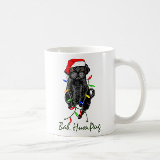 Bah HumPug Black Pug Mug