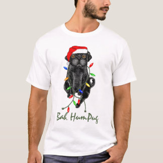 Bah HumPug Black Pug T-Shirt