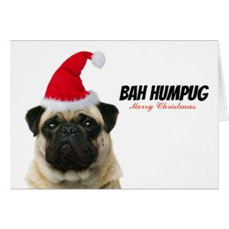 Bah Humpug Christmas Card