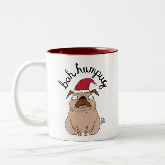 Bah Humpug Grumpy Santa Pug Mug