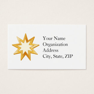 Baha'i Symbol Business Card