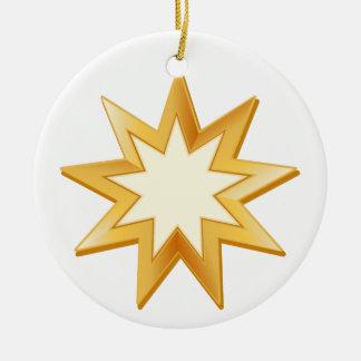 Baha'i Symbol Ceramic Ornament
