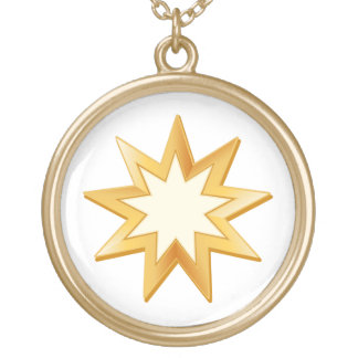 Baha'i Symbol Gold Plated Necklace