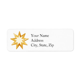 Baha'i Symbol Return Address Label