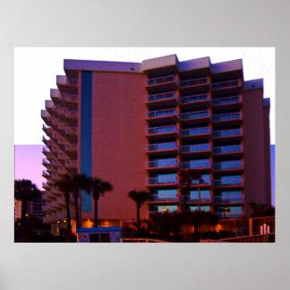 Bahama House Beach Resort At Dawn Poster