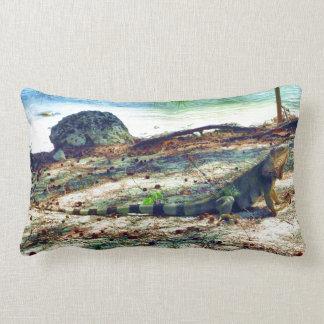 Bahama Iguana Lumbar Pillow