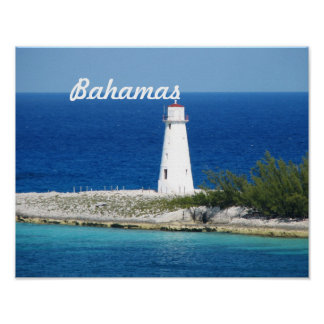 Bahama Lighthouse Poster
