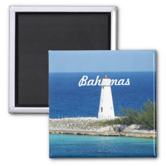 Bahama Lighthouse Square Magnet