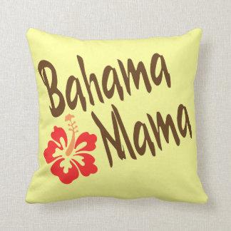 Bahama Mama with hibiscus Throw Pillow