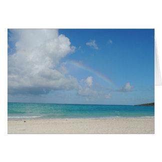 Bahamas Beach and Rainbow Card