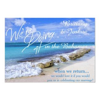 BAHAMAS BEACH SHORE WEDDING CARD