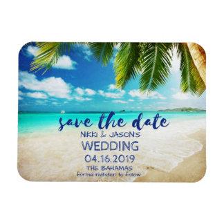 Bahamas Beach Wedding Save the Date Magnets