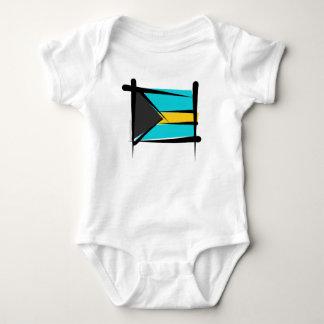Bahamas Brush Flag Baby Bodysuit