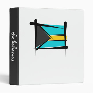 Bahamas Brush Flag Vinyl Binder